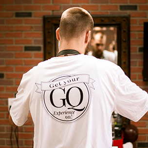 Barber with GQ shirt